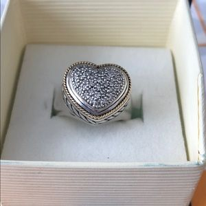 EFFY Sterling Silver And Diamond 18K Ring
